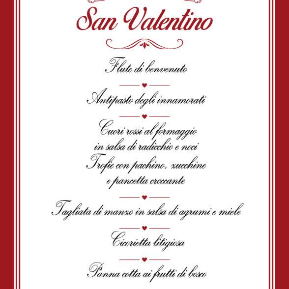 Menù di San Valentino – Fattoria Santo Stefano
